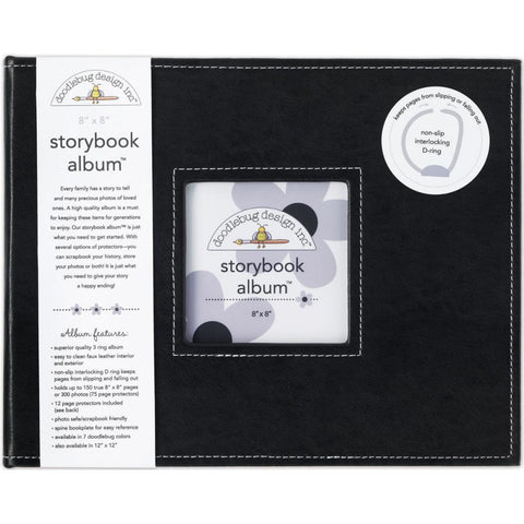 "Storybook Album 8""X8"" - Beetle Black"