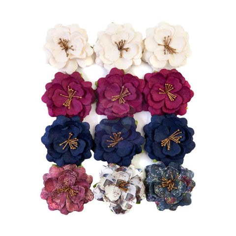 Darcelle - Prima Marketing - Mulberry Paper Flowers - Beautiful Glow