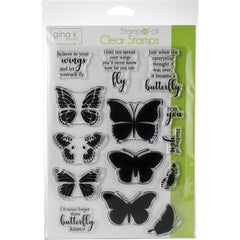 Gina K Designs - Clear Stamps - Butterfly Kisses