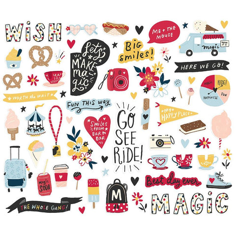 Say Cheese 4 - Simple Stories - Bits & Pieces Die-Cuts 54/Pkg
