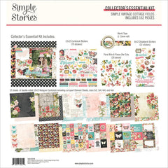 "Simple Vintage Cottage Fields - Simple Stories - Collector's Essential Kit 12""X12"""