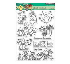 "Penny Black Clear Stamps 5""X7.5"" Sheet - Chick to Chick"