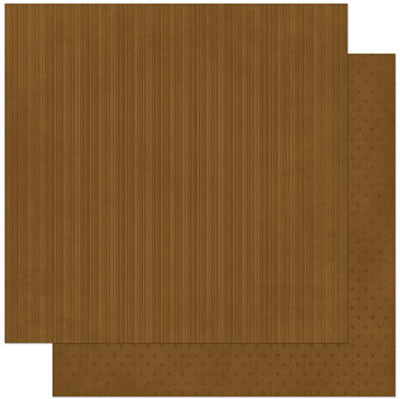 "BoBunny Double Design Double-Sided Textured Cardstock 12""X12"" - Chocolate Stripe"