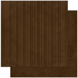 "BoBunny Double Design Double-Sided Cardstock 12""X12"" - Coffee Stripe"