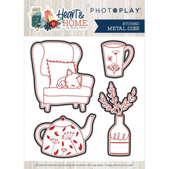 Heart & Home  - Photo Play - Etched Die