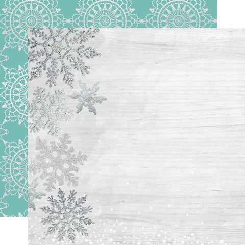 "Let It Snow - Kaisercraft - Double-Sided Cardstock 12""X12"" - Delightful"