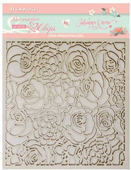Gratitud  - Stamperia - Decorative Chips - Texture of Roses