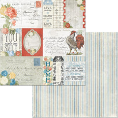 "Boulevard - BoBunny - Double-Sided Cardstock 12""X12"" - de France"