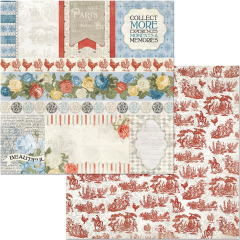 "Boulevard - BoBunny - Double-Sided Cardstock 12""X12"" - de Paris"