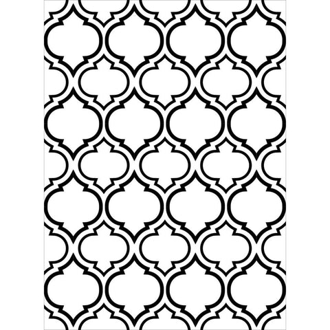 "Embossing Folder 4.25""X5.75"" - Double Quatrefoil"