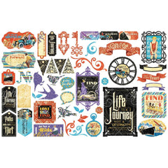 Life's A Journey - Graphic 45 -  Cardstock Die-Cut Assortment