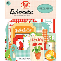 Farm To Table - Carta Bella - Cardstock Ephemera 33/Pkg - Icons