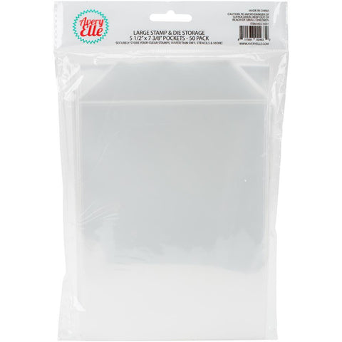 "Avery Elle Stamp & Die Storage Pockets 50/Pkg - Large 5.5""X7.25"""