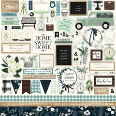 "Home Again - Carta Bella - Cardstock Stickers 12""X12"" - Elements"
