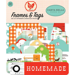 Farm To Table - Carta Bella - Cardstock Ephemera 33/Pkg - Frames & Tags