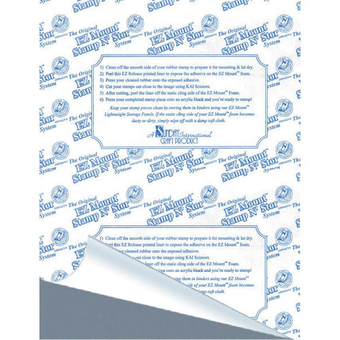 "EZMount Static Cling Mounting Foam 8.5""X11"" 1/Pkg - Gray Foam"