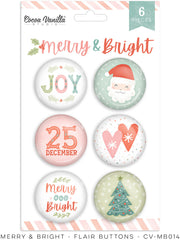 Merry & Bright - Cocoa Vanilla - Flair Buttons