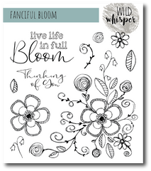 FANCIFUL BLOOM - NICOLE WRIGHT - Wild Whisper - 6X6 STAMP SET