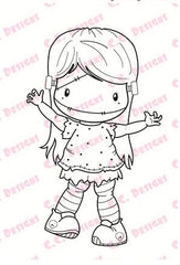 *New C.C. Designs Swiss Pixie Franken-Lucy Rubber Stamp