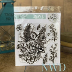 BOTANIC   - NICOLE WRIGHT - Wild Whisper - 6X6 STAMP SET