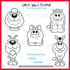 The Funny Farm Crew (cling set)