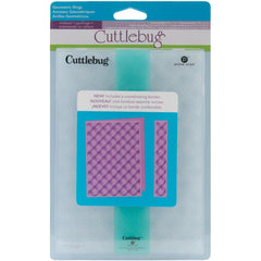 "Cuttlebug 5""X7"" Embossing Folder/Border Set - Geometric Rings"