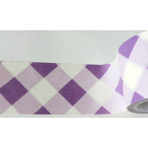 Wide Purple Gingham