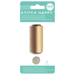 We R Stitch Happy Metallic Thread - Gold
