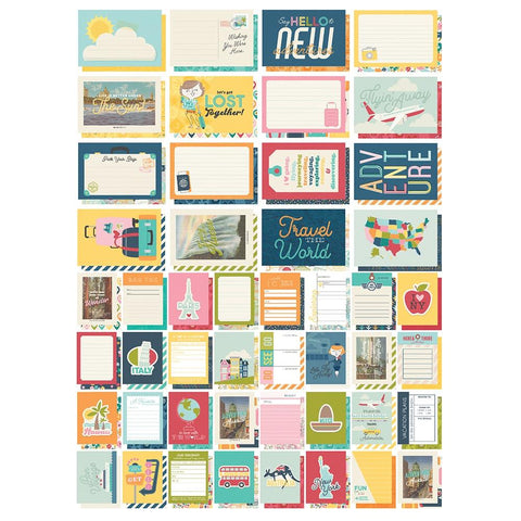 Going Places - Simple Stories - Sn@p! Card Pack 72/Pkg