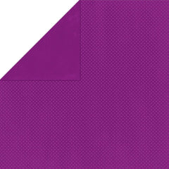 "BoBunny Double Dot Double-Sided Textured Cardstock 12""X12"" - Grape"