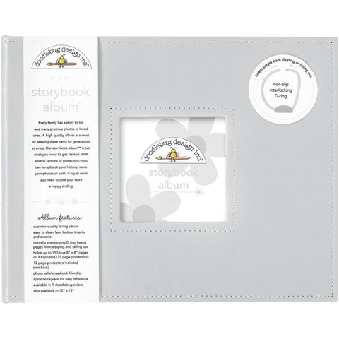 "Storybook Album 8""X8"" - Gray"