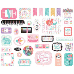It's Your Birthday (Girl) - Echo Park - Cardstock Ephemera 33/Pkg - Icons