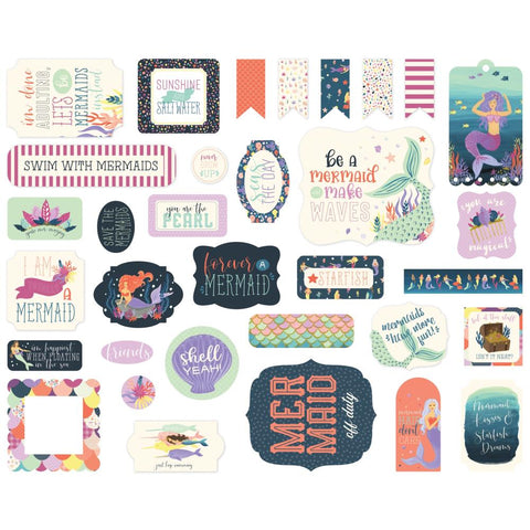 Mermaid Dreams Cardstock Die-Cuts 33/Pkg - Echo Park - Icons