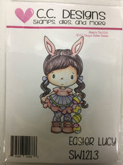 Easter Lucy Rubber Stamp - C.C. DESIGNS