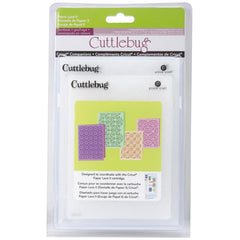 "Cuttlebug Cricut Companion Embossing Folders 4/Pkg - Paper Lace 2 (2) 5""X7"" & (2) A2"