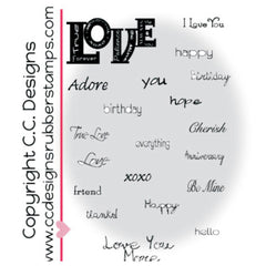 "Rheatwisted Cling Stamps 4""X6"" - Love Stuff"