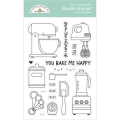 Made With Love - Doodlebug - Clear Doodle Stamps - Made With Love
