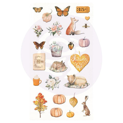 Autumn Sunset - Prima Marketing - Puffy Stickers 25/Pkg