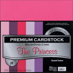 "Darice Value Pack Smooth Cardstock 12""X12"" 20/Pkg - The Princess Assortment"