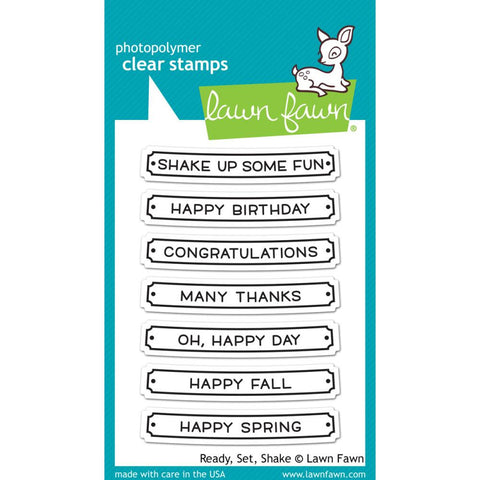 "Lawn Fawn Clear Stamps 3""X4"" - Ready, Set, Shake"