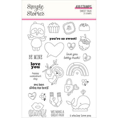Sweet Talk - Simple Stories - Photopolymer Clear Stamps