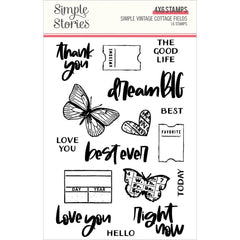 Simple Vintage Cottage Fields - Simple Stories - Photopolymer Clear Stamps