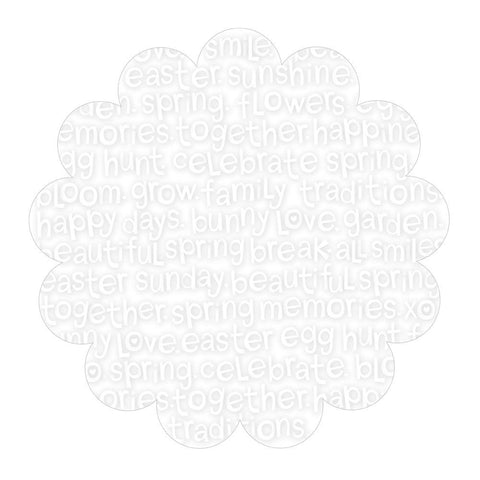 "Simply Spring Invisibles Die-Cut Plastic Sheet 12""X12"" - Scrambled"