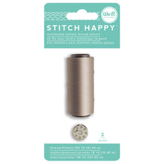 We R Stitch Happy Metallic Thread - Silver