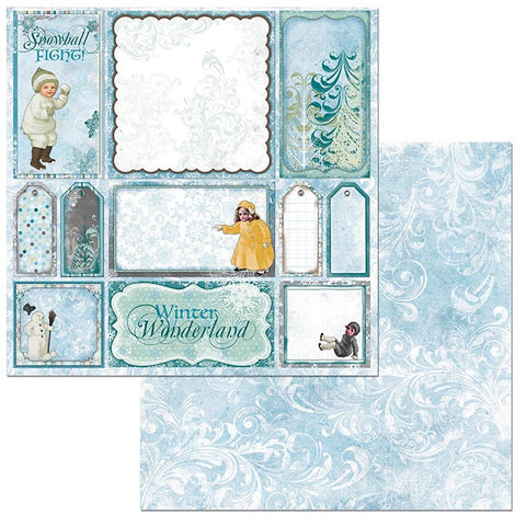 "Winter Playground Double-Sided Cardstock 12""X12"" - Snowball"