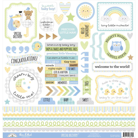 "Cream & Sugar Cardstock Stickers 12""X12"" - This & That"