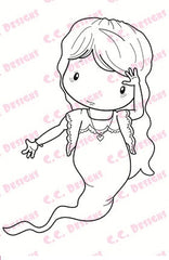*New C.C. Designs Swiss Pixie Wailing Lucy Rubber Stamp