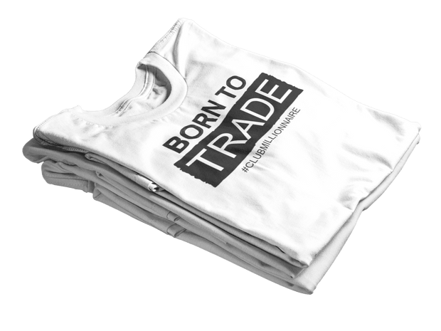 "T-SHIRT ""BORN TO TRADE"" - ClubMillionnaire Shop"