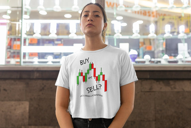"T-SHIRT ""BUY OR SELL"" - ClubMillionnaire Shop"