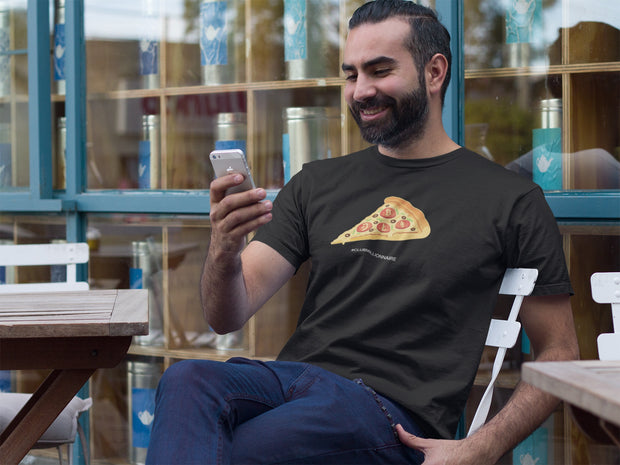 "T-SHIRT ""CRYPTO PIZZA"" - ClubMillionnaire Shop"